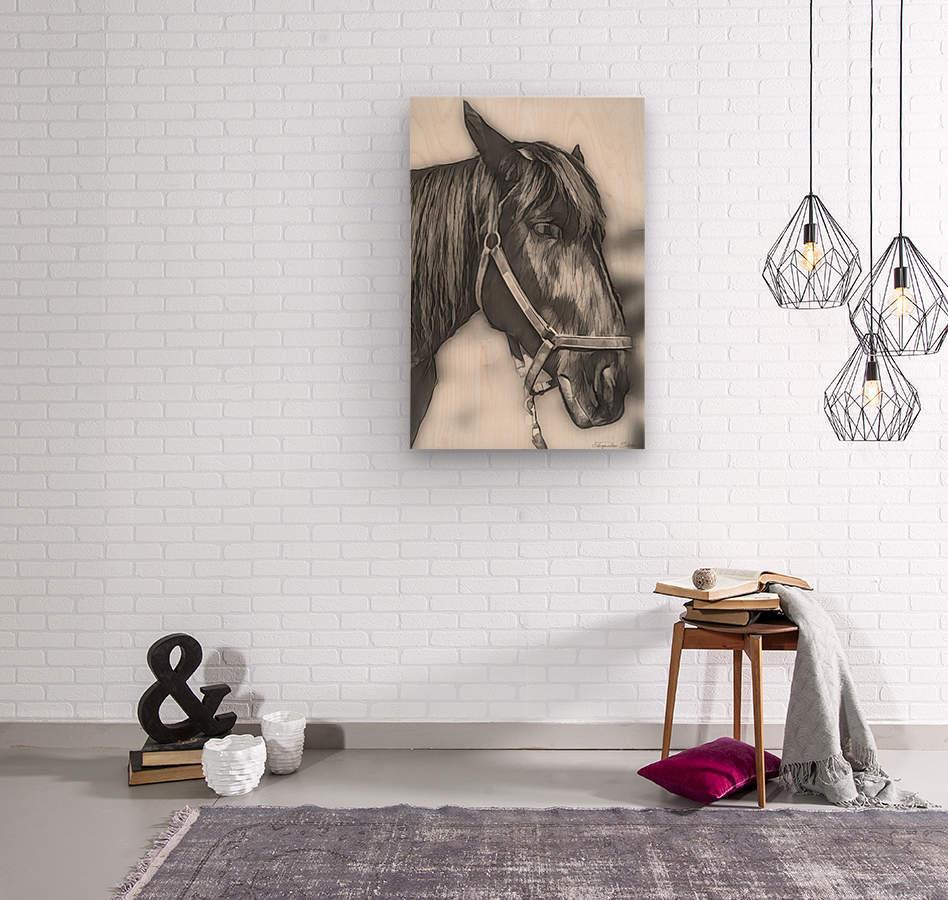 A Real Beauty  Wood print