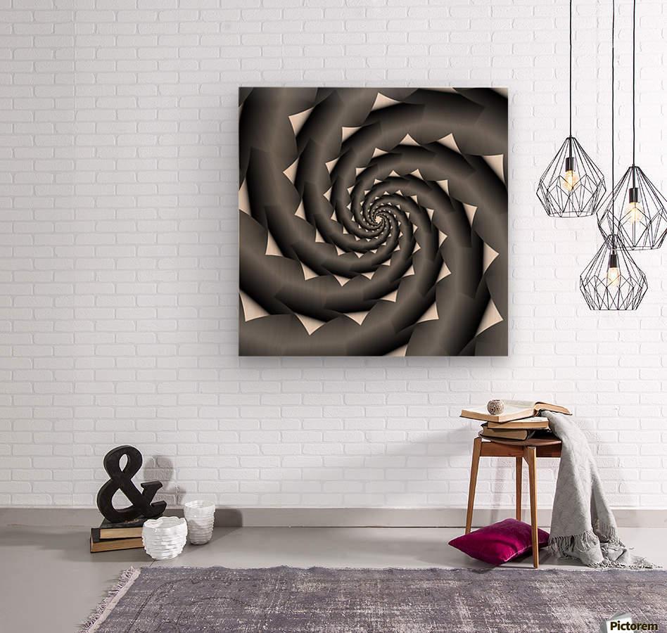 3d Abstract Spiral Design  Wood print