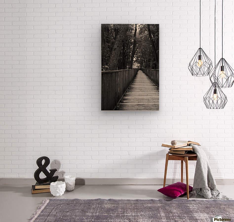 A long way  Wood print