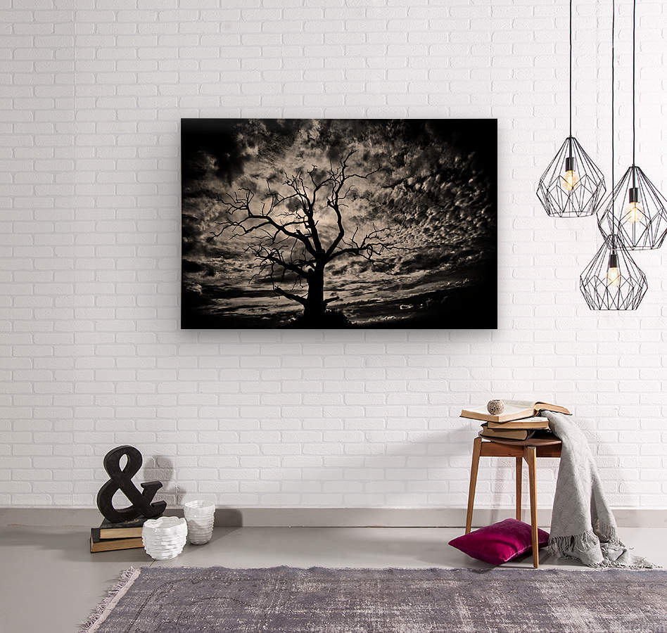 Spooky tree  Wood print