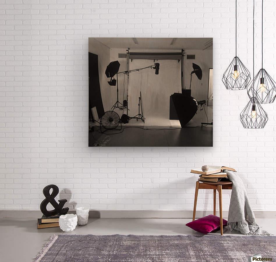 Black and White Studio  Wood print