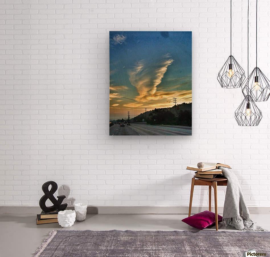 Cloud Whirlwind, California  Wood print