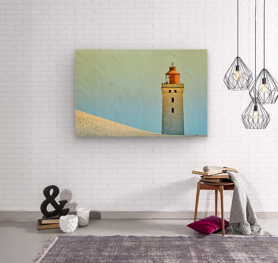 Lighthouse Rubjerg Knude  Wood print