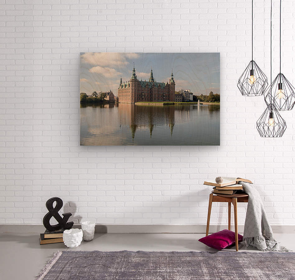 Castle of Frederiksborg   Wood print