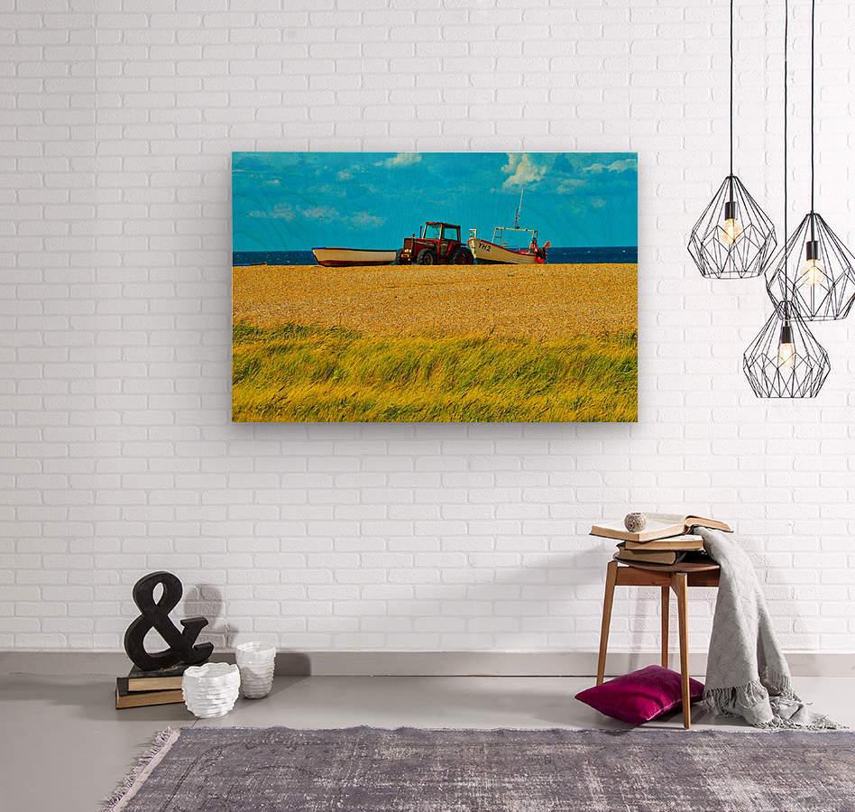 Beach Tractor  Wood print