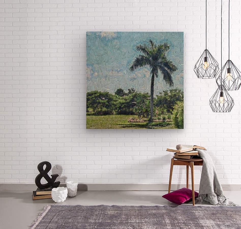 A Monet style Palm  Wood print