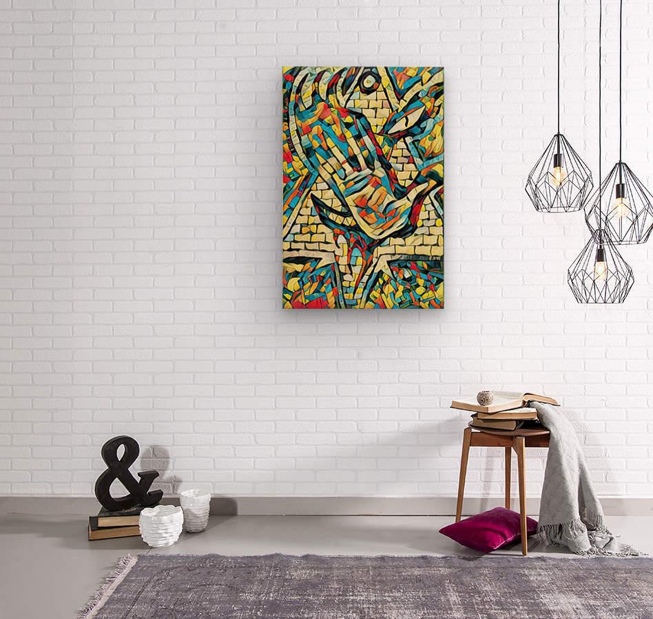 pyramorse  Wood print