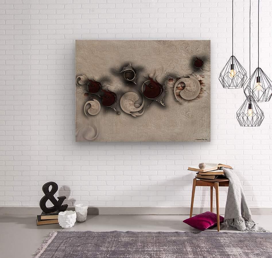The Meditative Emotion  Wood print