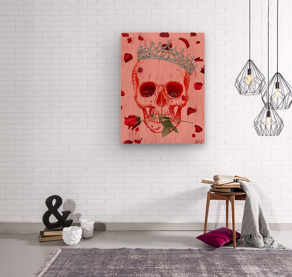 Charming Skull  Wood print