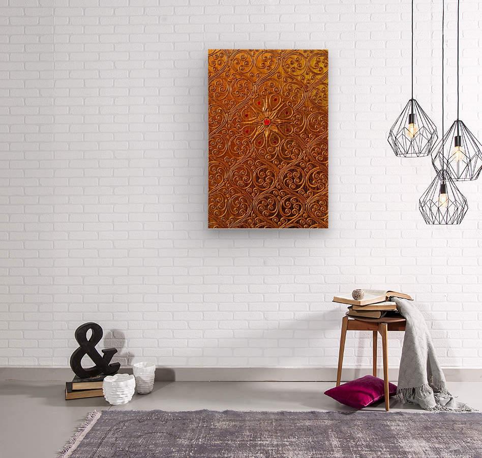 Golde pattern  Wood print