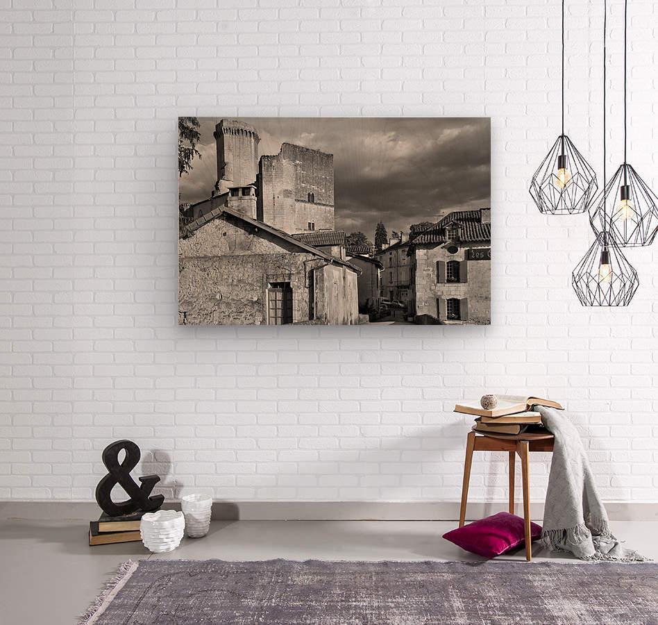 Bourdeilles Dordogne SW France  Wood print