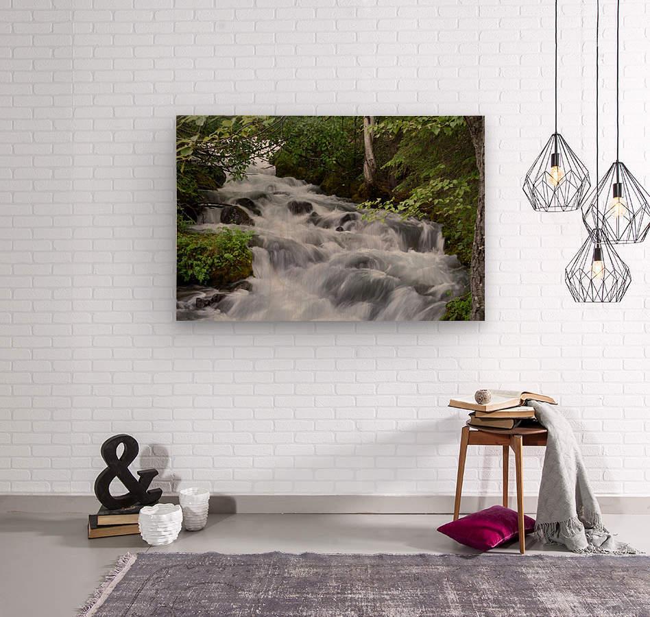 Beautiful Waterfall Photograph  Wood print