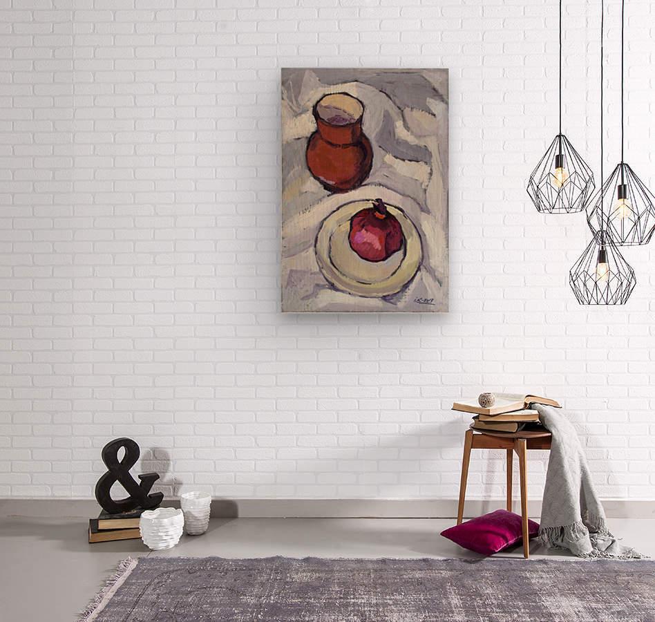 Still Life with Pomegranate  Wood print