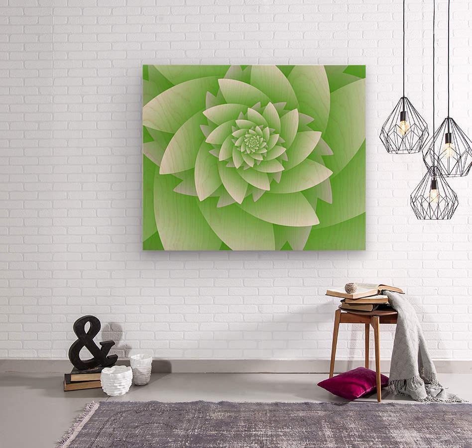Greeny Floral  Wood print
