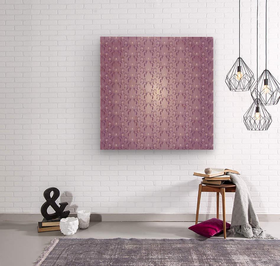 Ornamental Pink Artwork  Wood print
