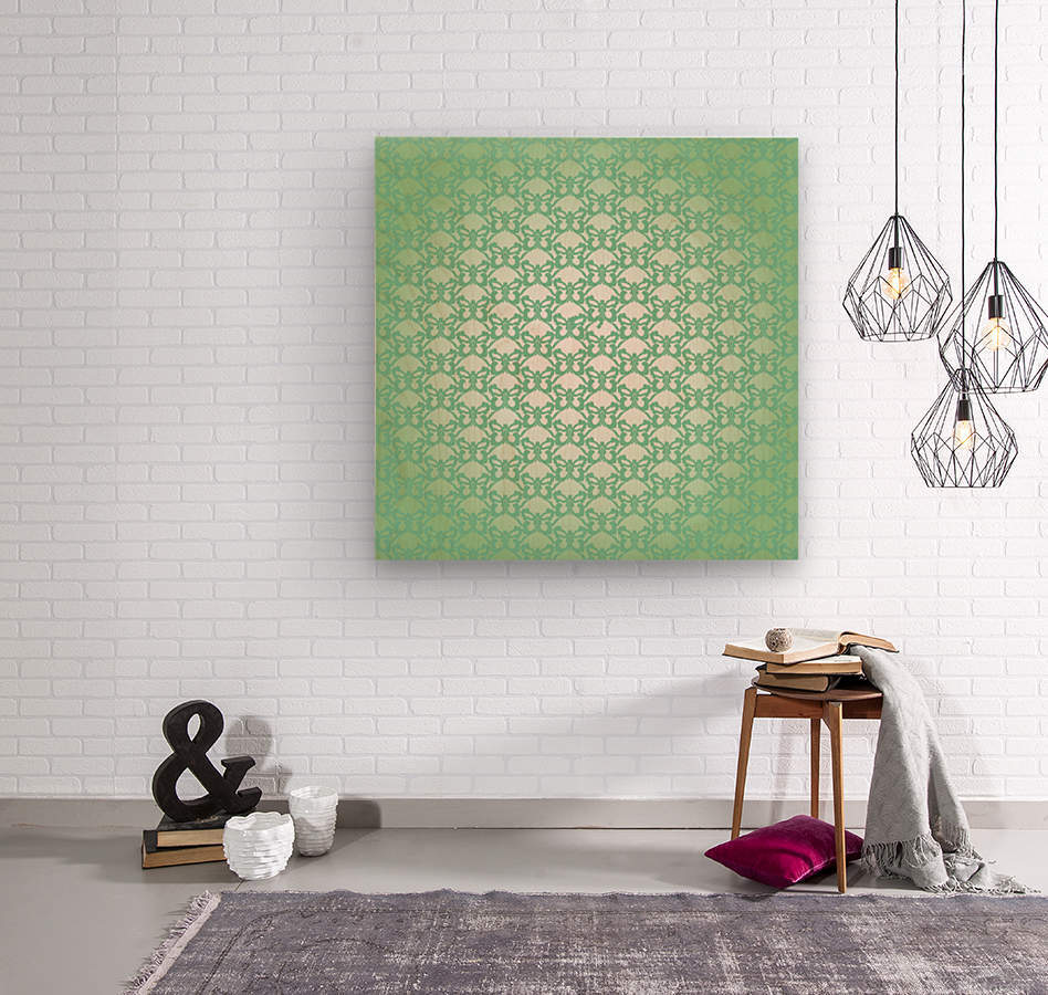 Ornamental Art Pattern Artwork  Wood print