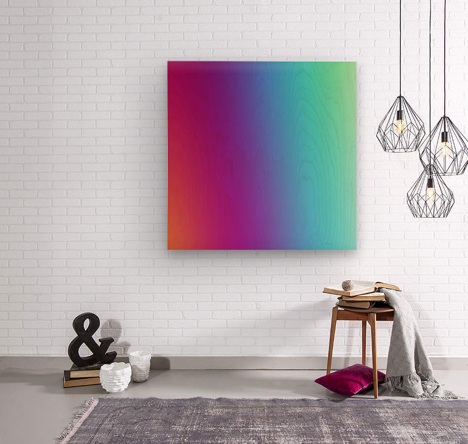 Multicolor Background  Wood print