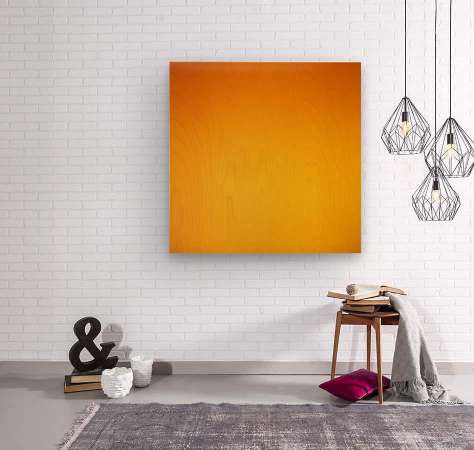 Orange Gradient Background  Wood print