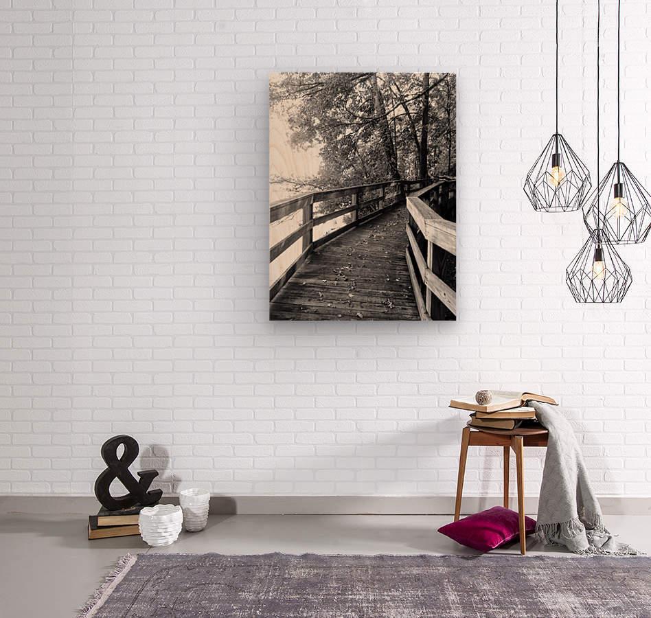 Walkway  Wood print