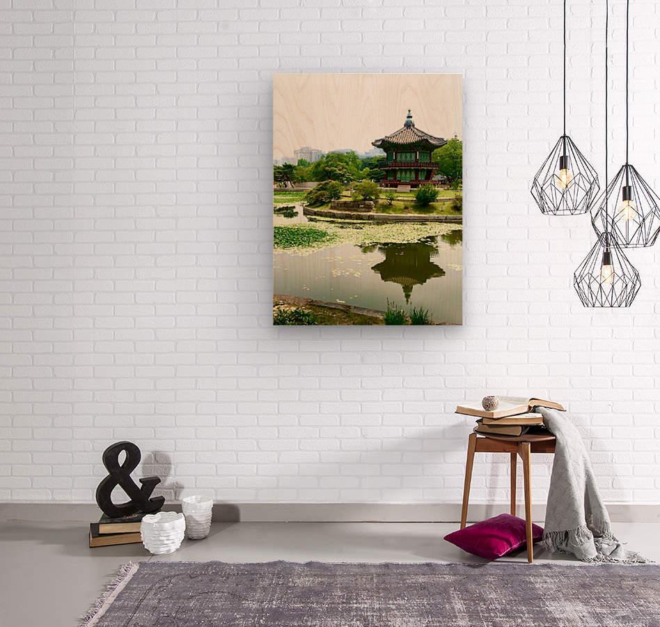 Korean Temple  Wood print