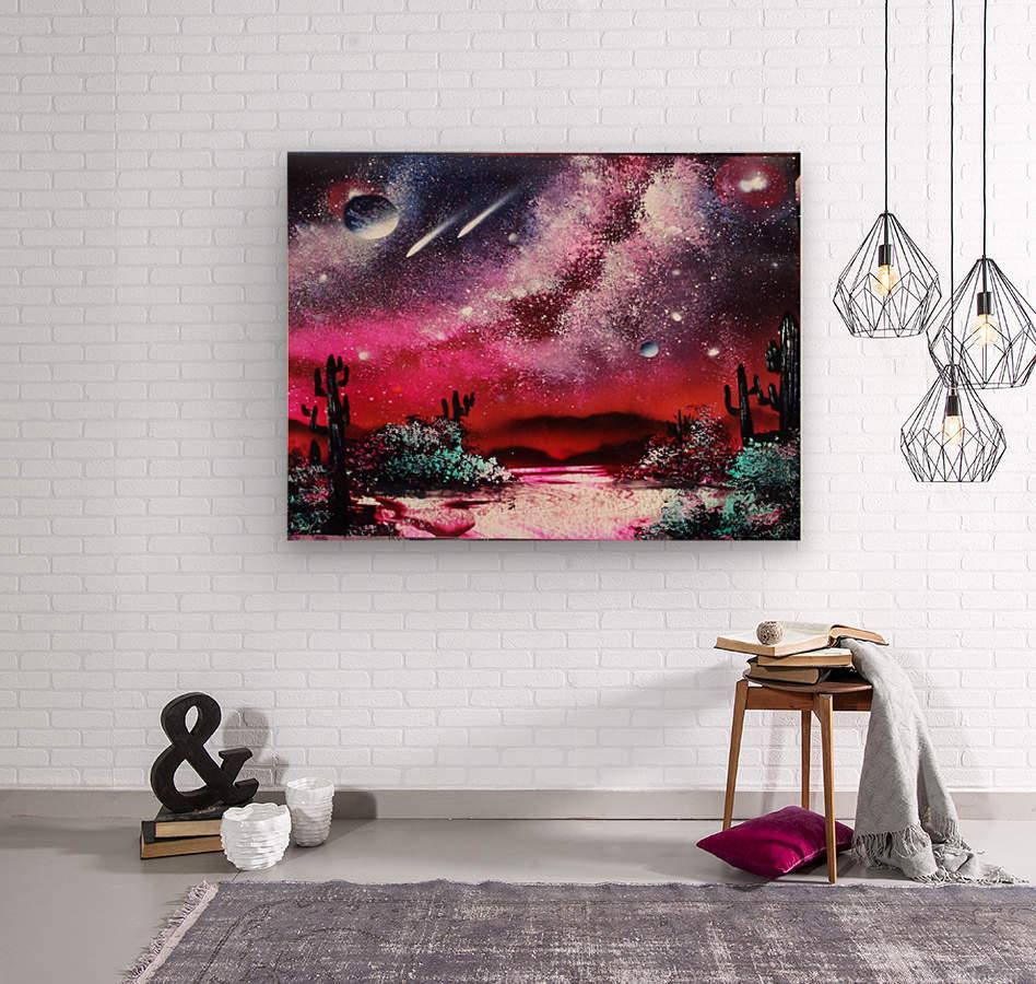 Cactus galaxy  Wood print