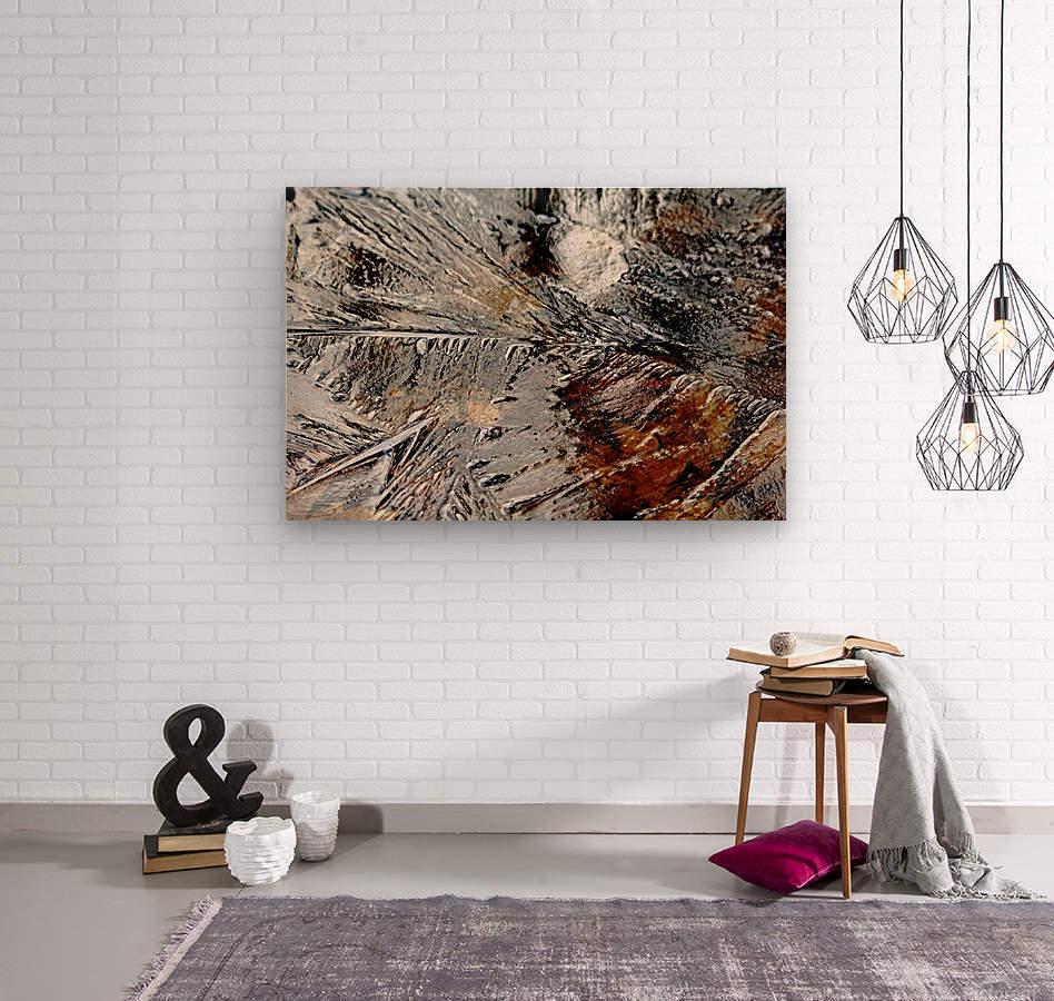 Frozen  Wood print