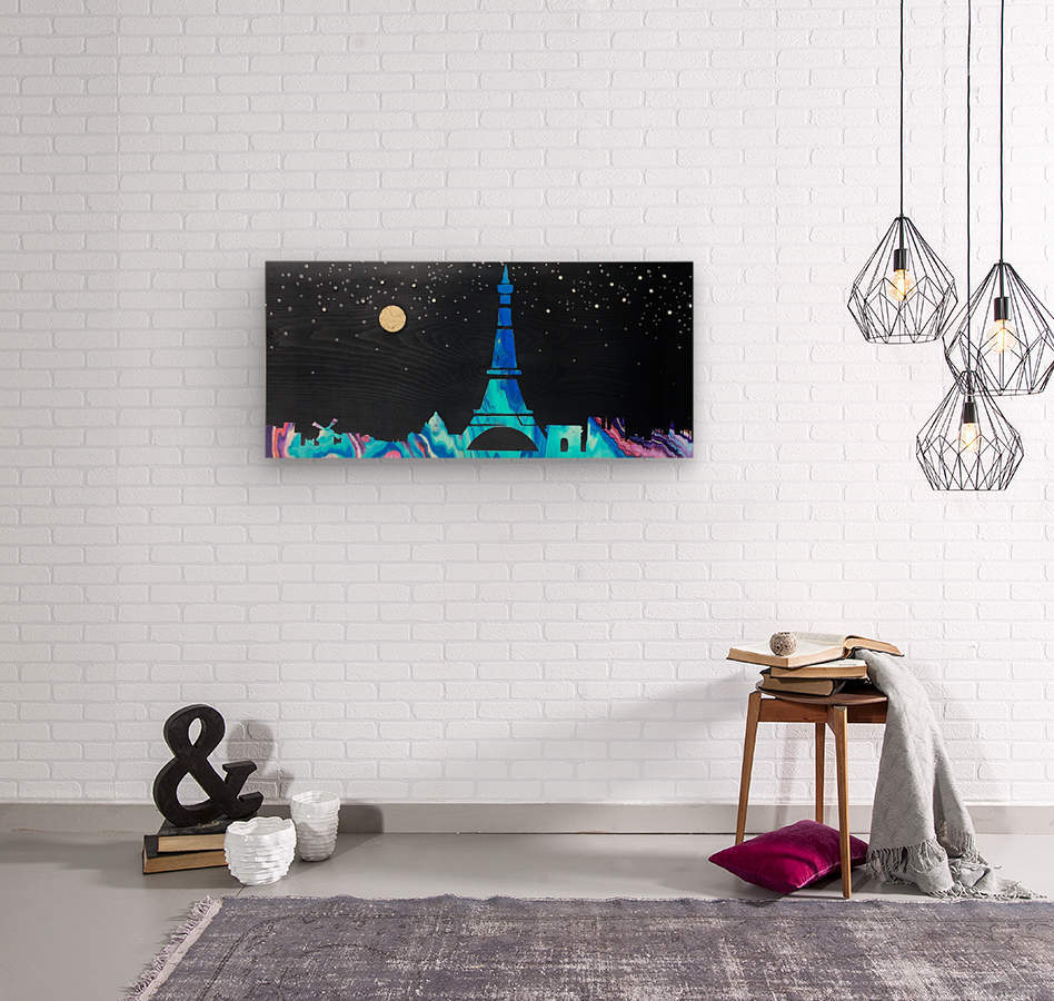 I love Paris on Wood 2  Wood print