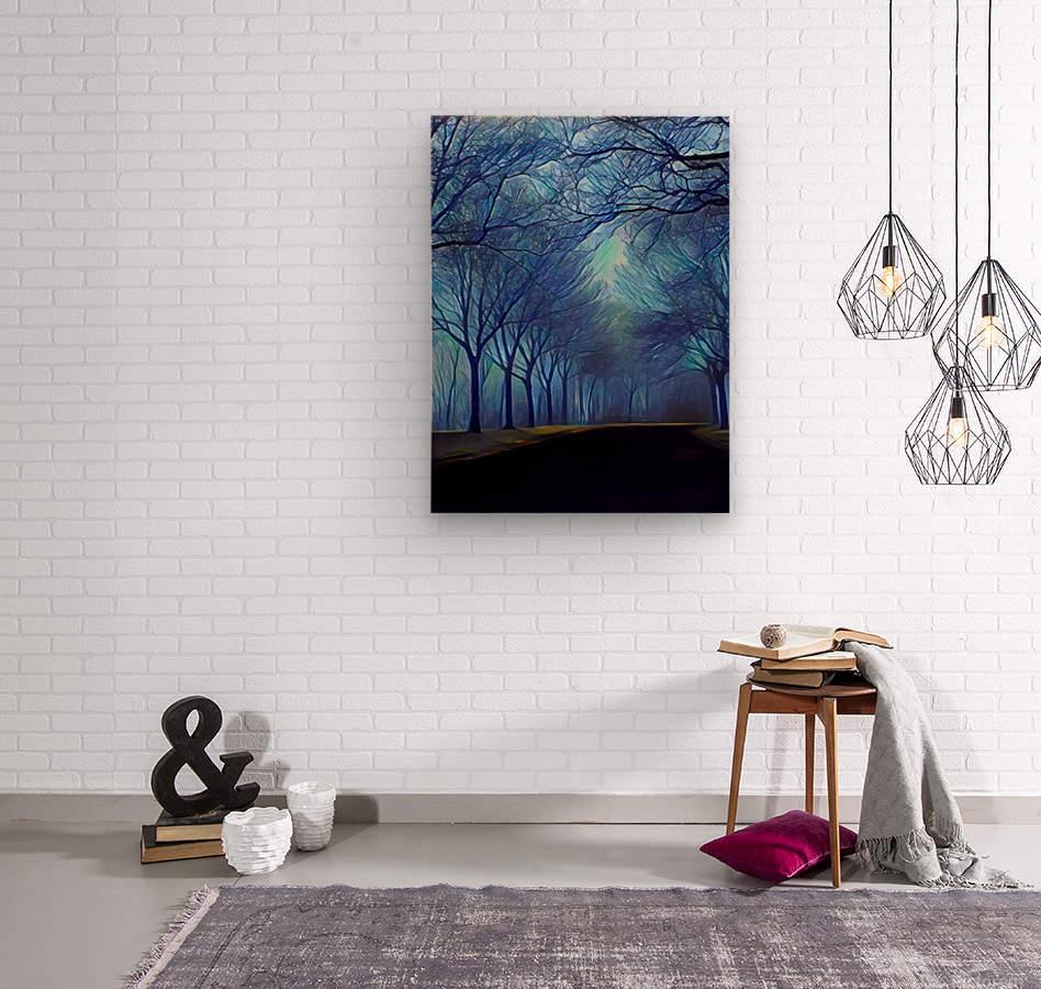 study in blue  Wood print