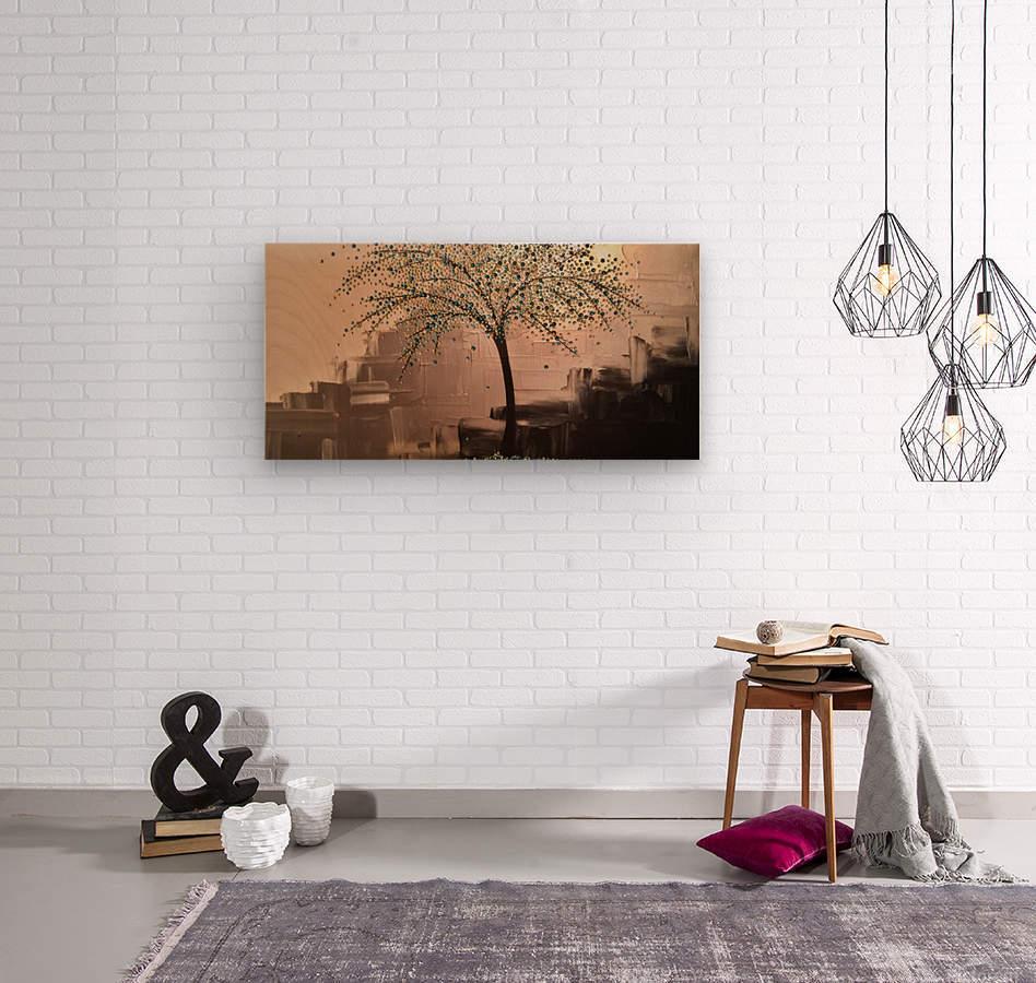 Tree of Treasures  Wood print