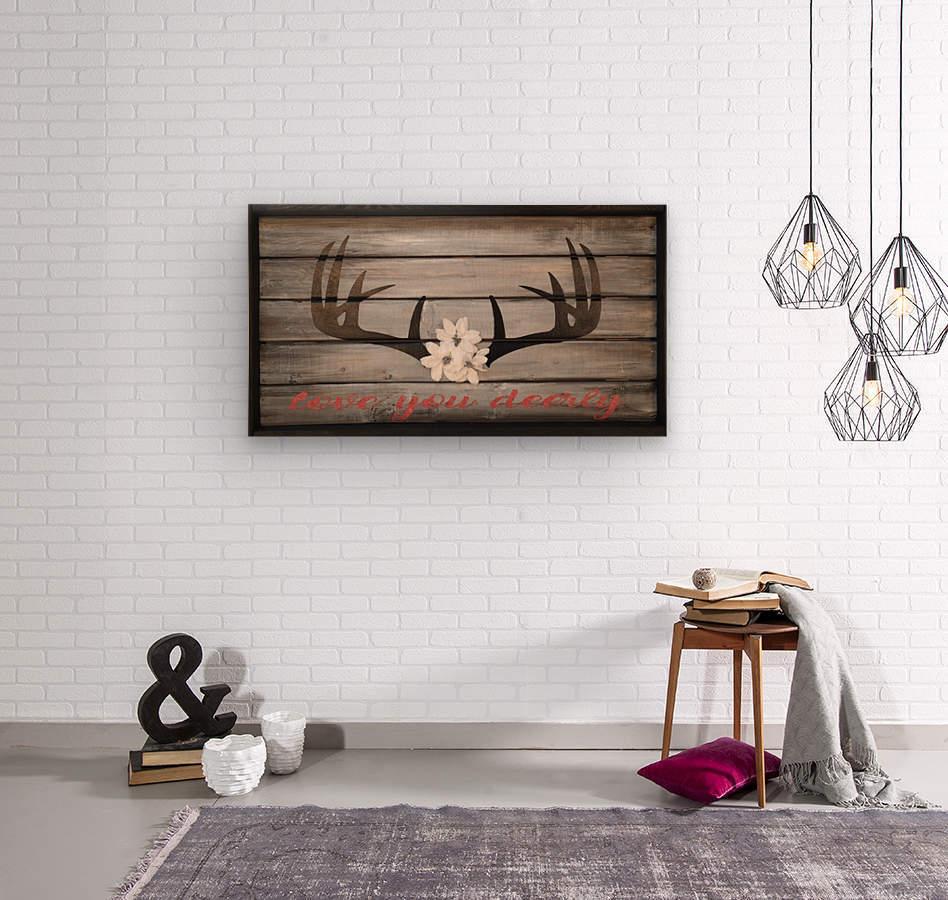 Love You Deerly  Wood print