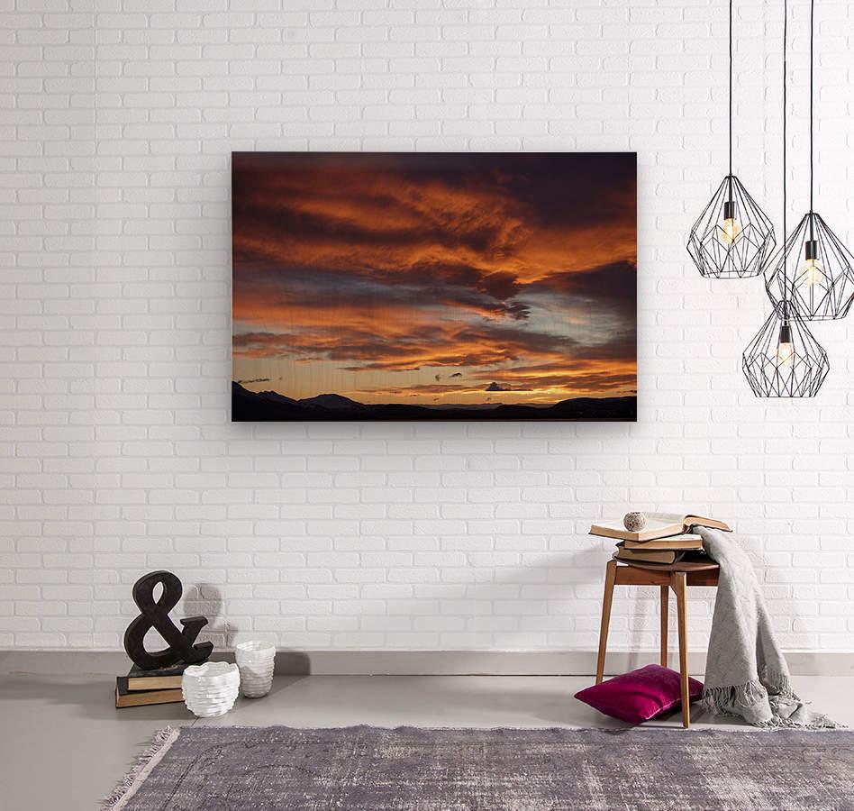 Icelandic Sunrise  Wood print