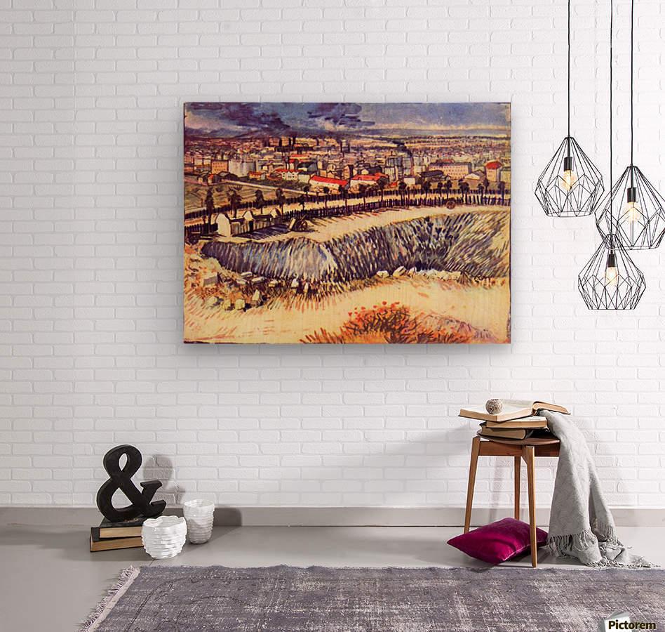 Factory by Van Gogh  Wood print