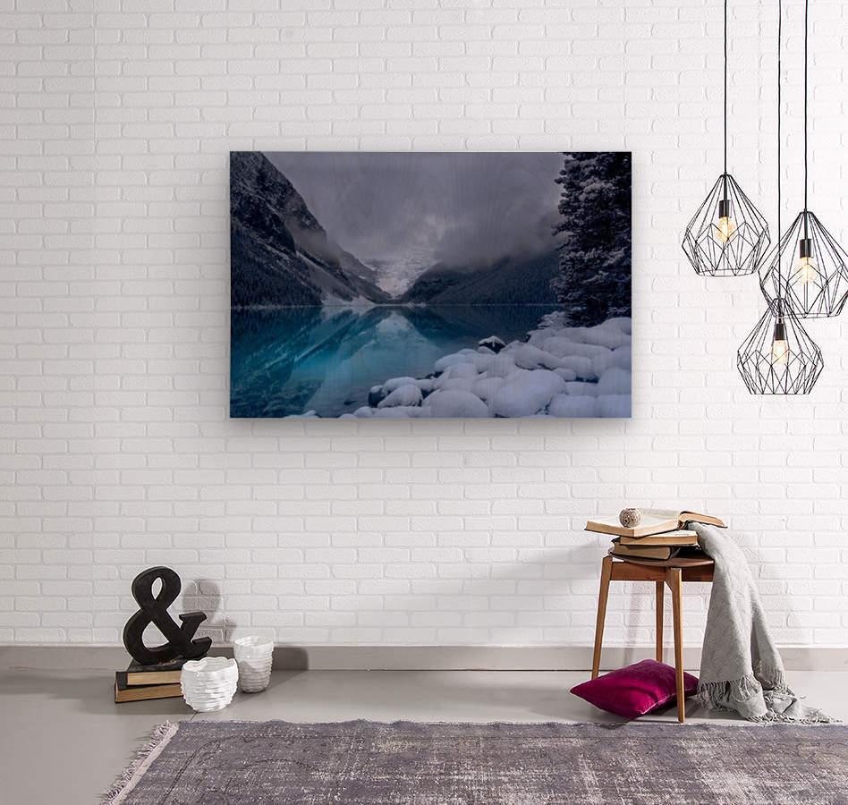 Lake Louise blues  Wood print