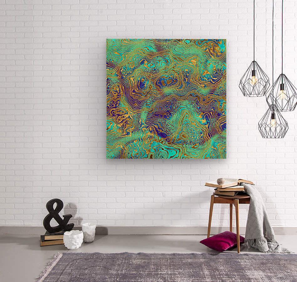 Abstract Marble I  Wood print