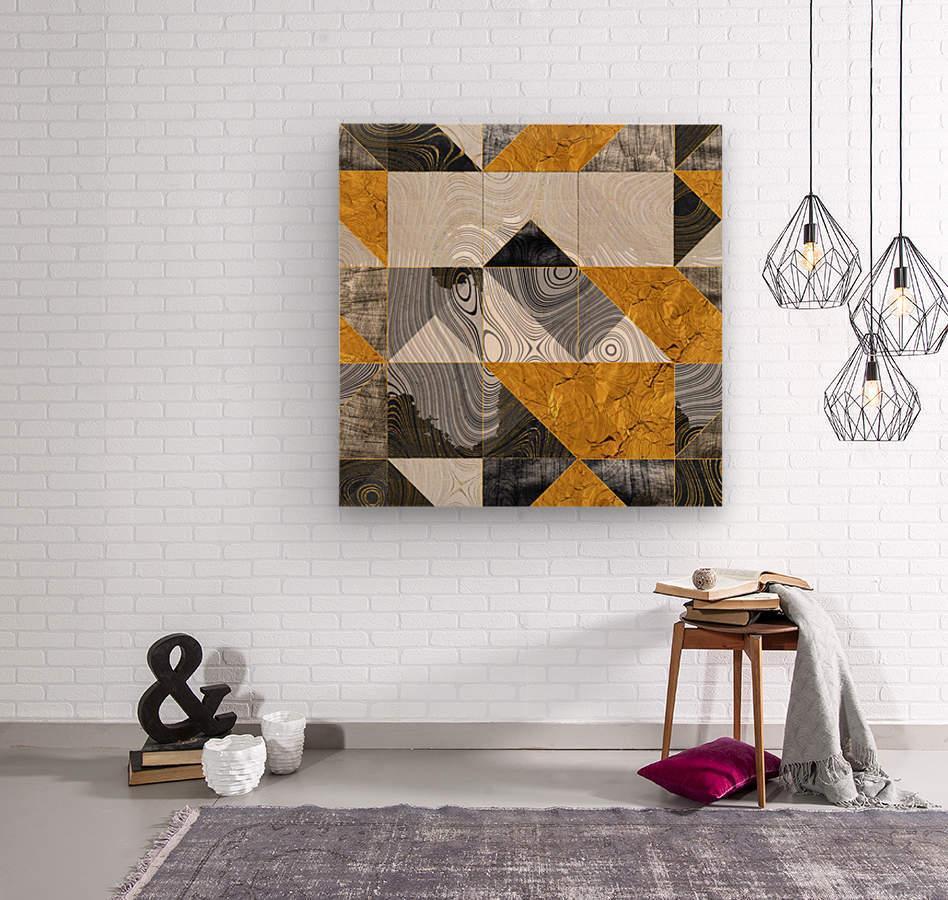 Geometric XXIII  Wood print