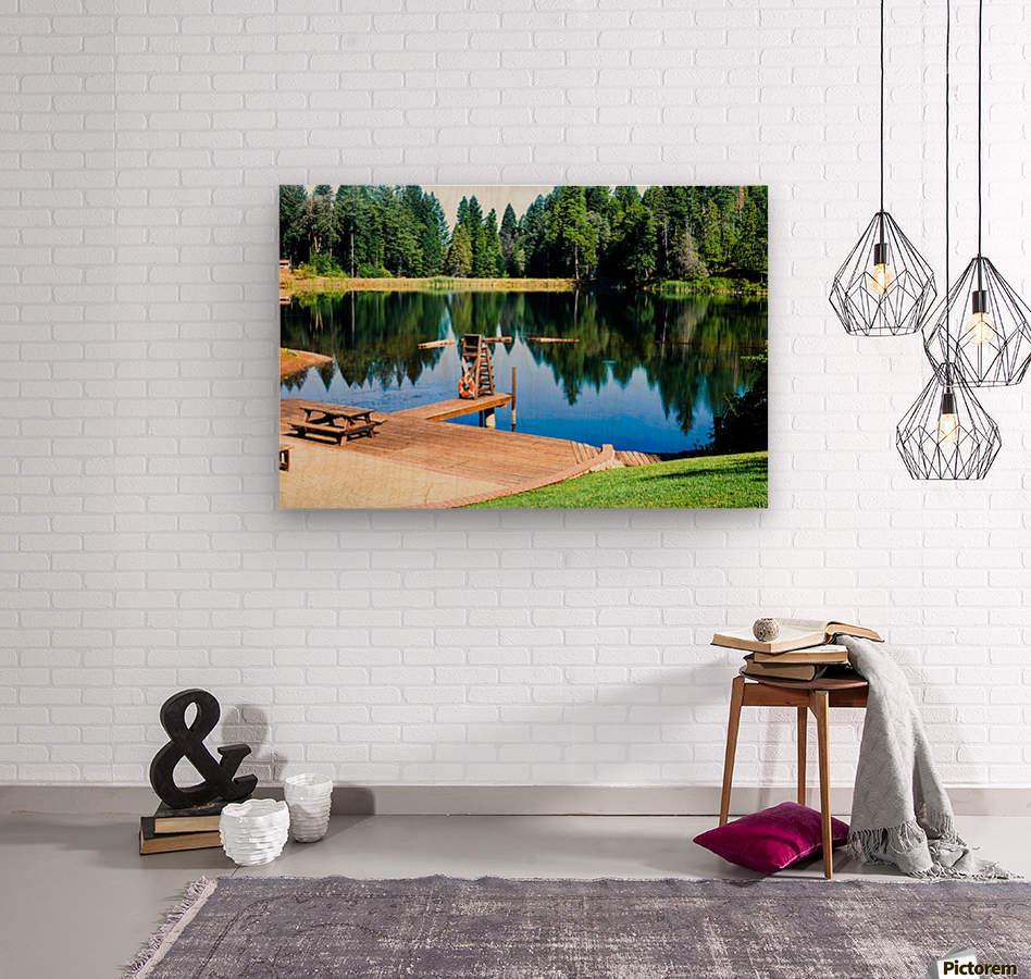 Saturated Scene  Wood print