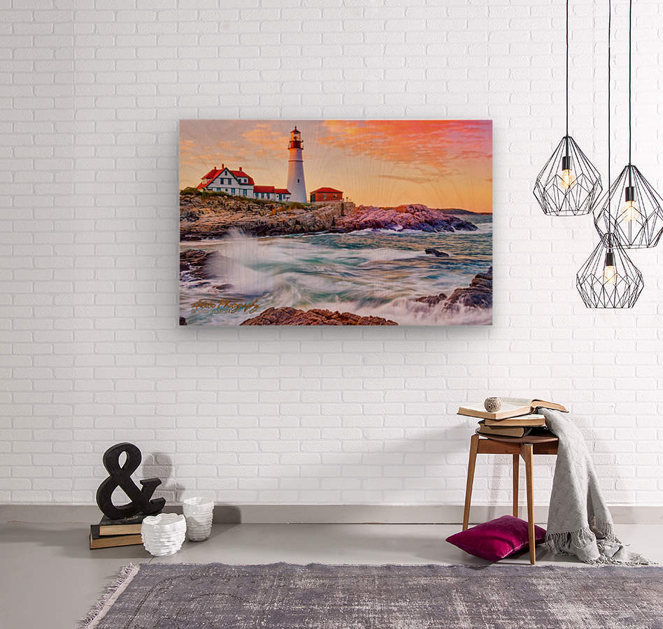 Crashing Waves - APC-113  Wood print