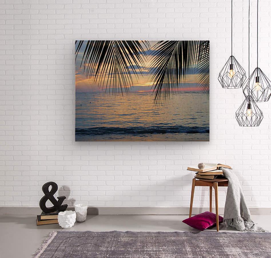 Tropical Sunset 4  Wood print