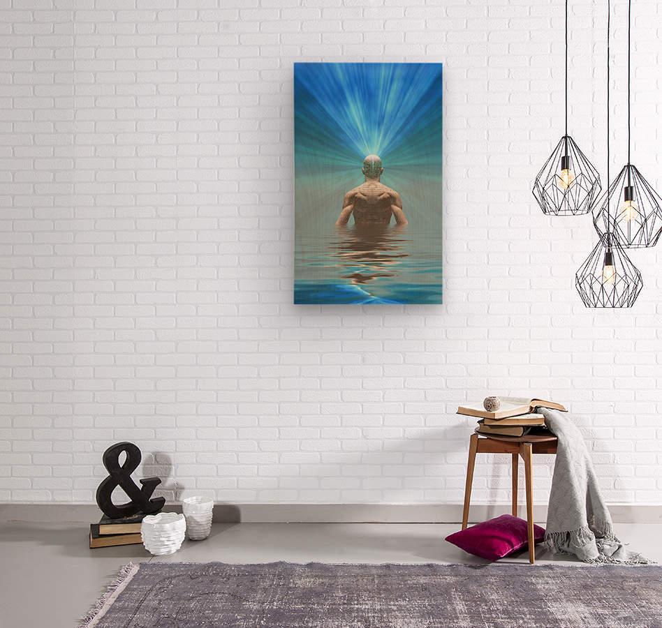 Power of Mind  Wood print