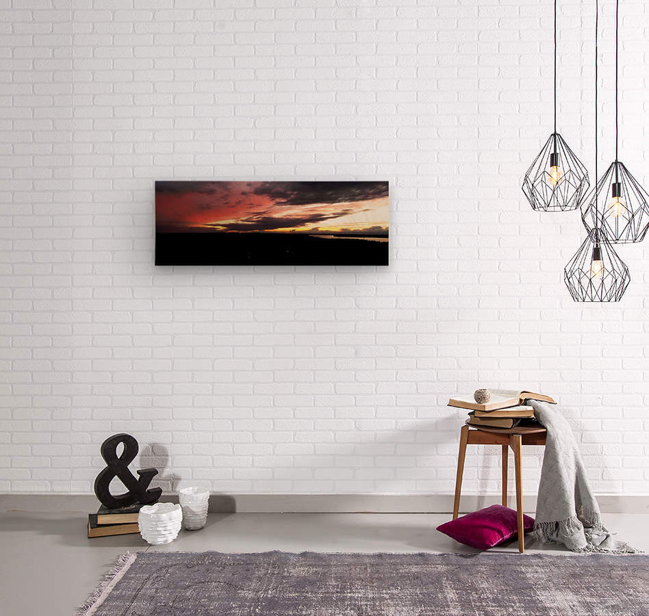 best sun  Wood print