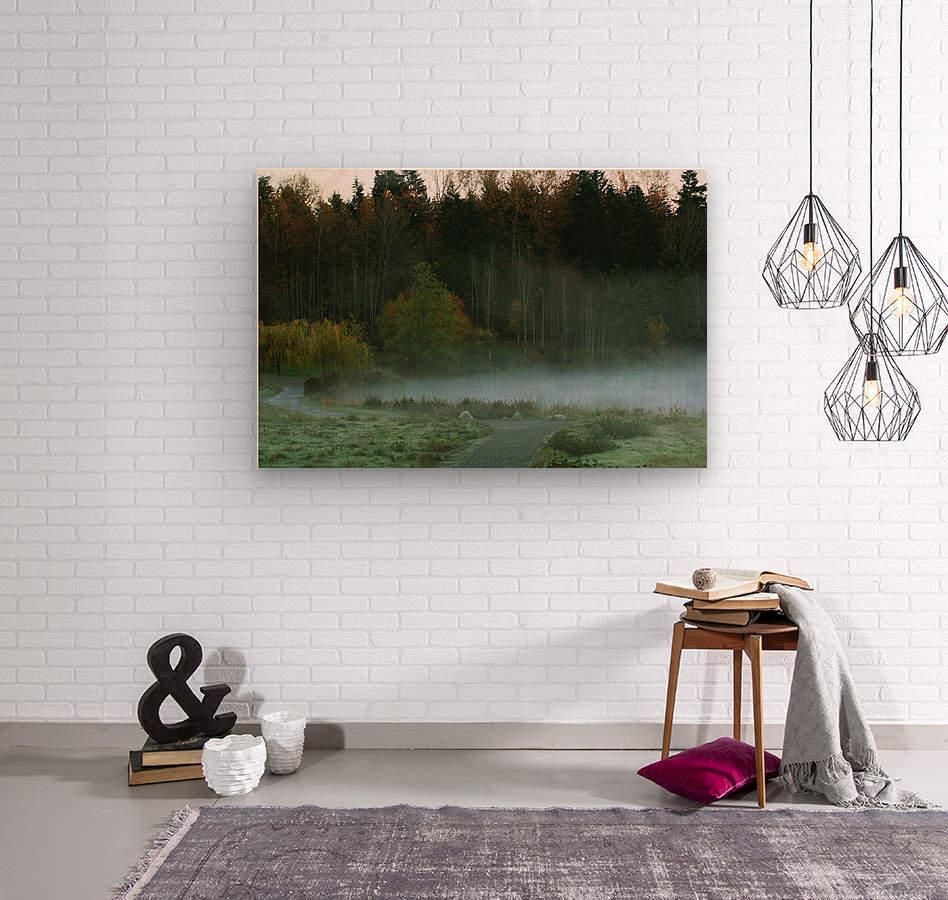 Weyerhaeuser morning  Wood print