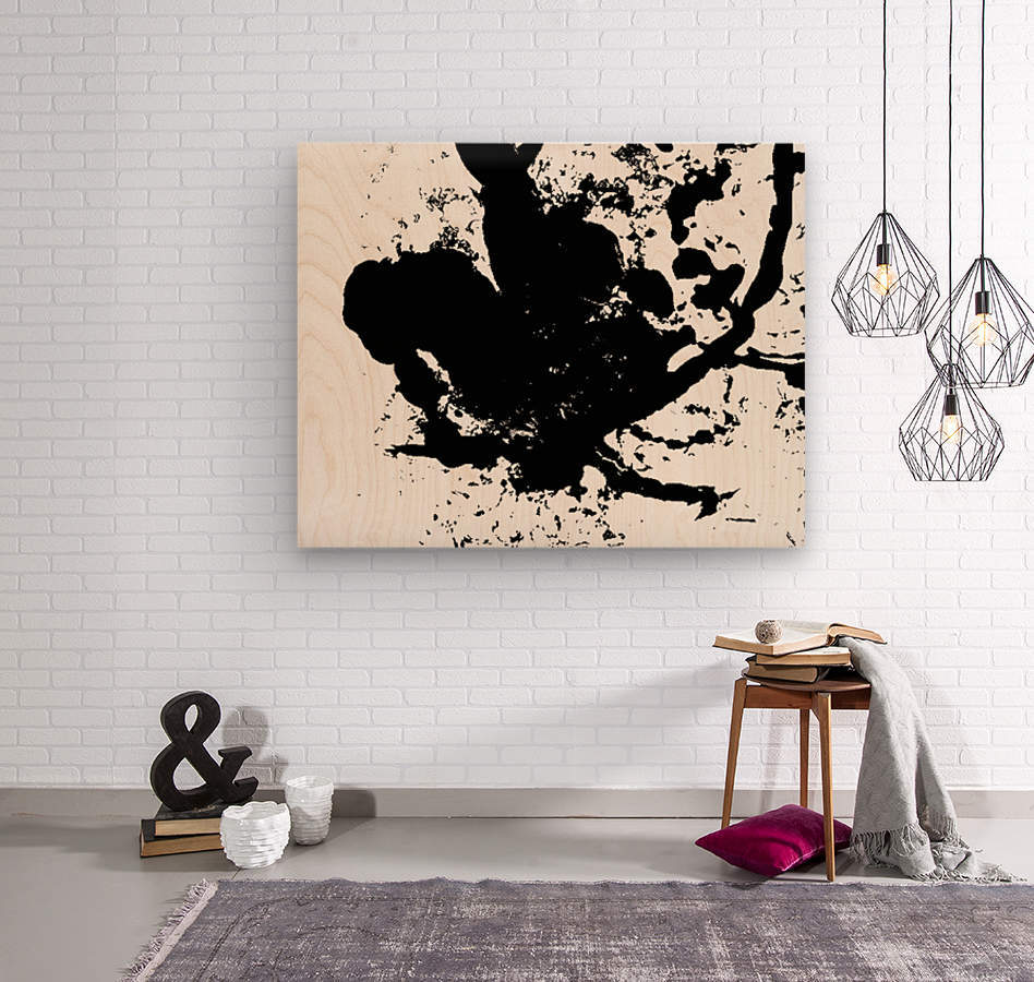 Surprise Black and White  Wood print