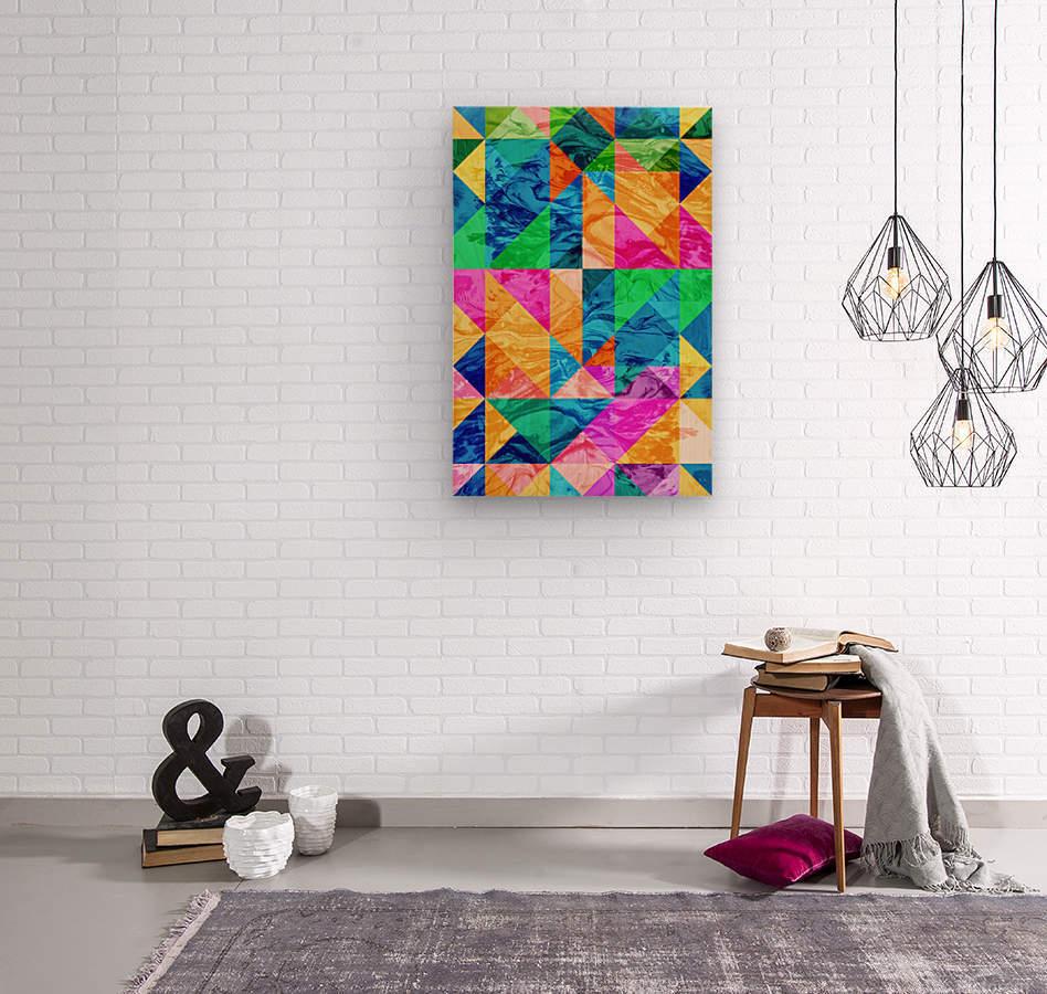 Geometric XXIX  Wood print
