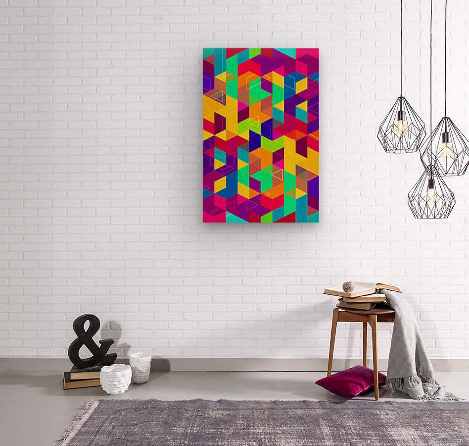 Pattern LXXX  Wood print