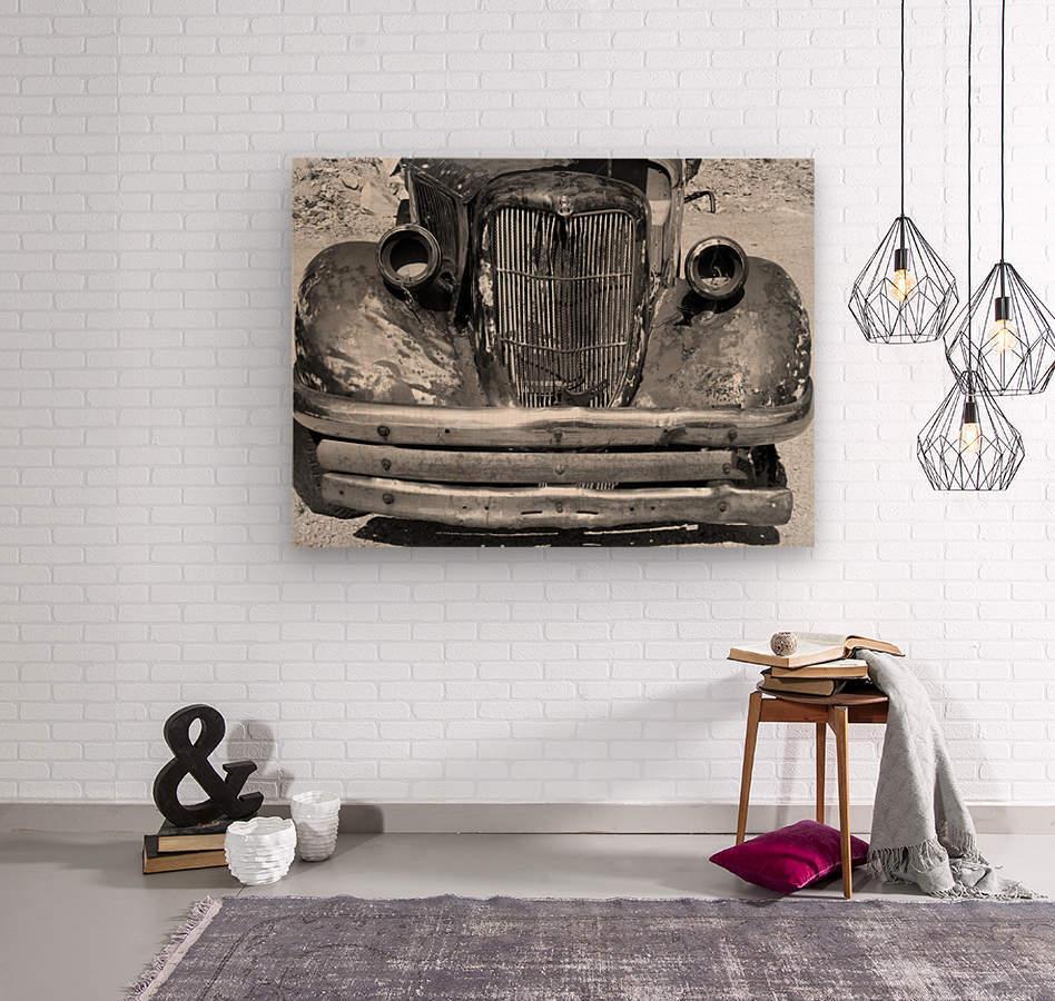 Rusty Old Truck B&W  Wood print