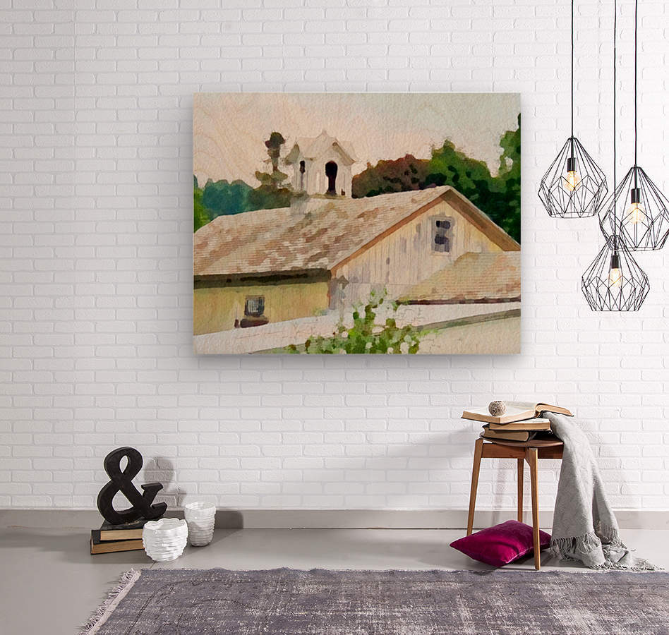 Cummington Barn Roofs  Wood print