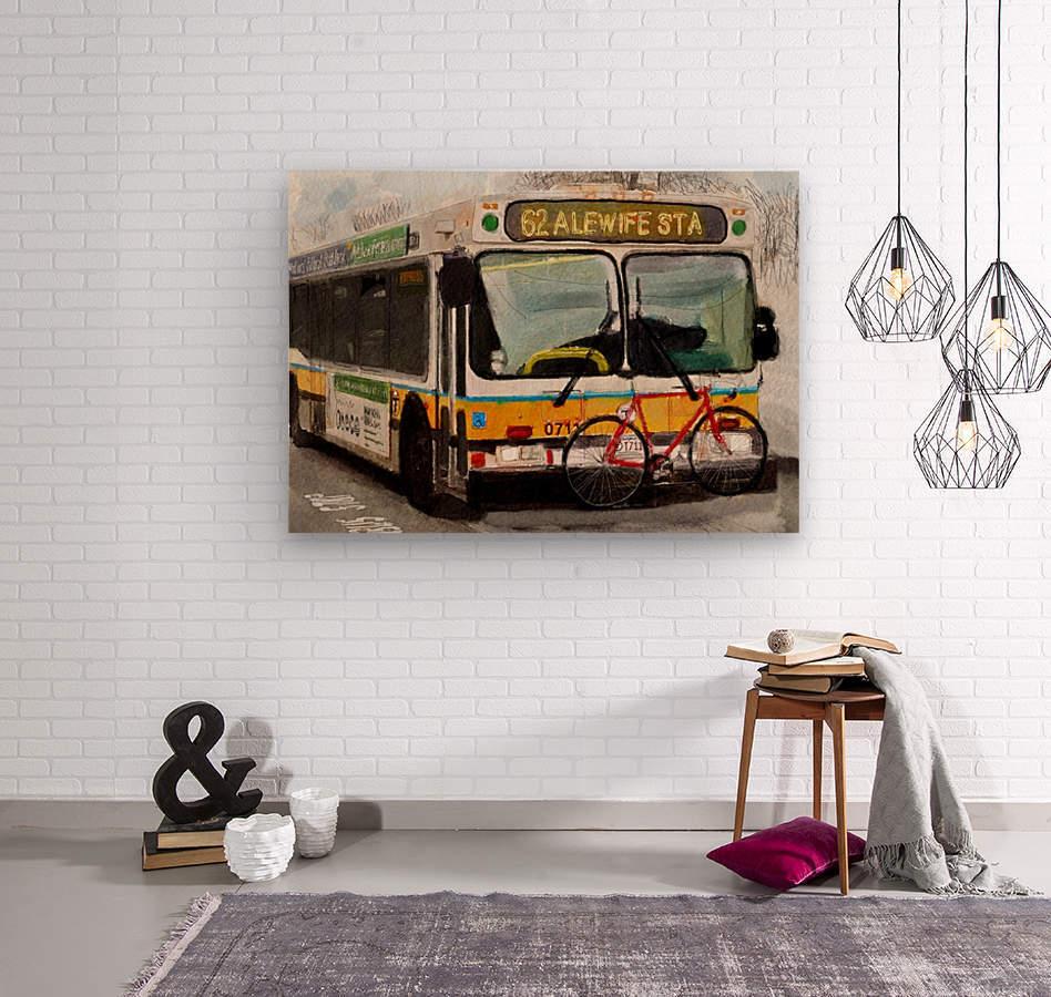 MBTA 62 Bus  Wood print