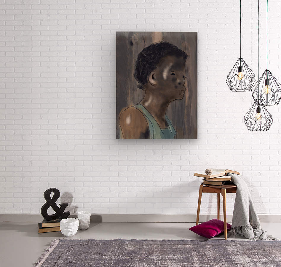 Whitney Plantation Slave Girl 5  Wood print