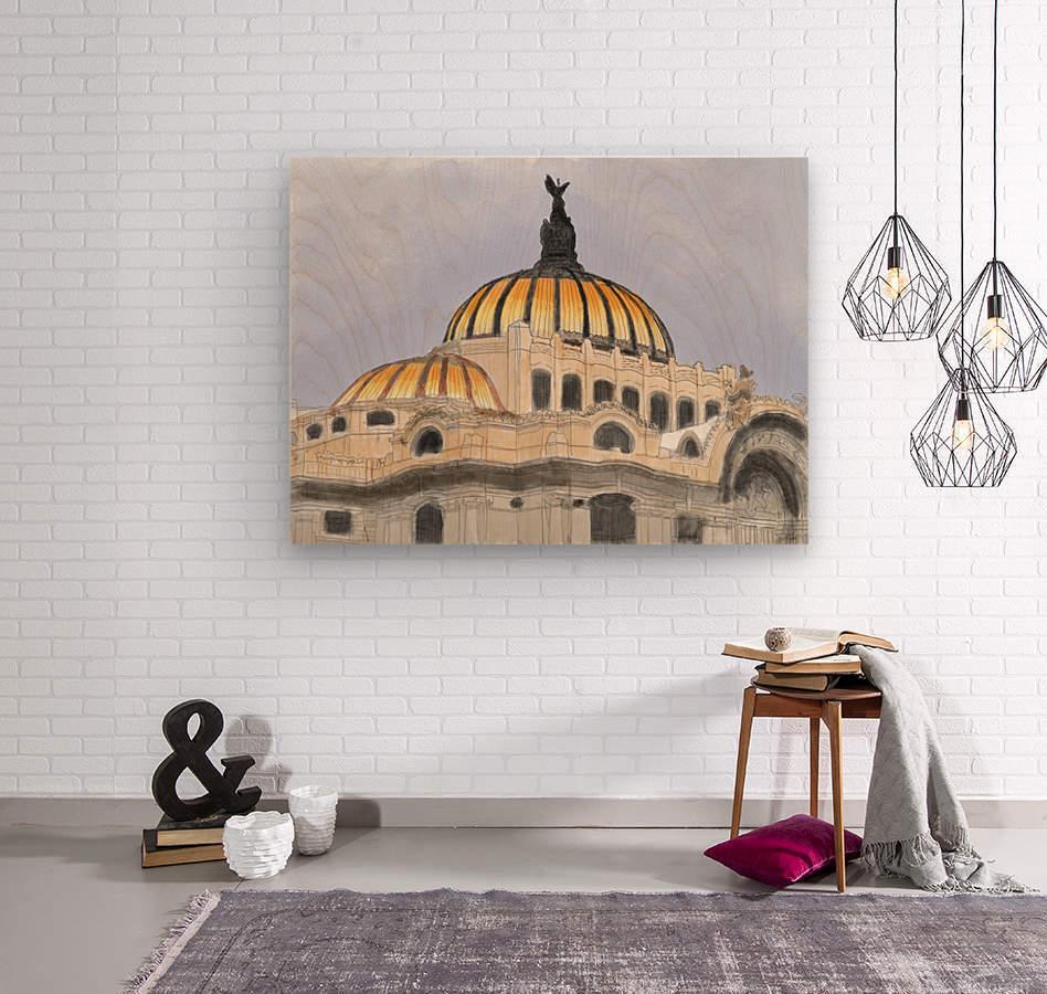 Mexico City Palacio Bellas Artes  Wood print