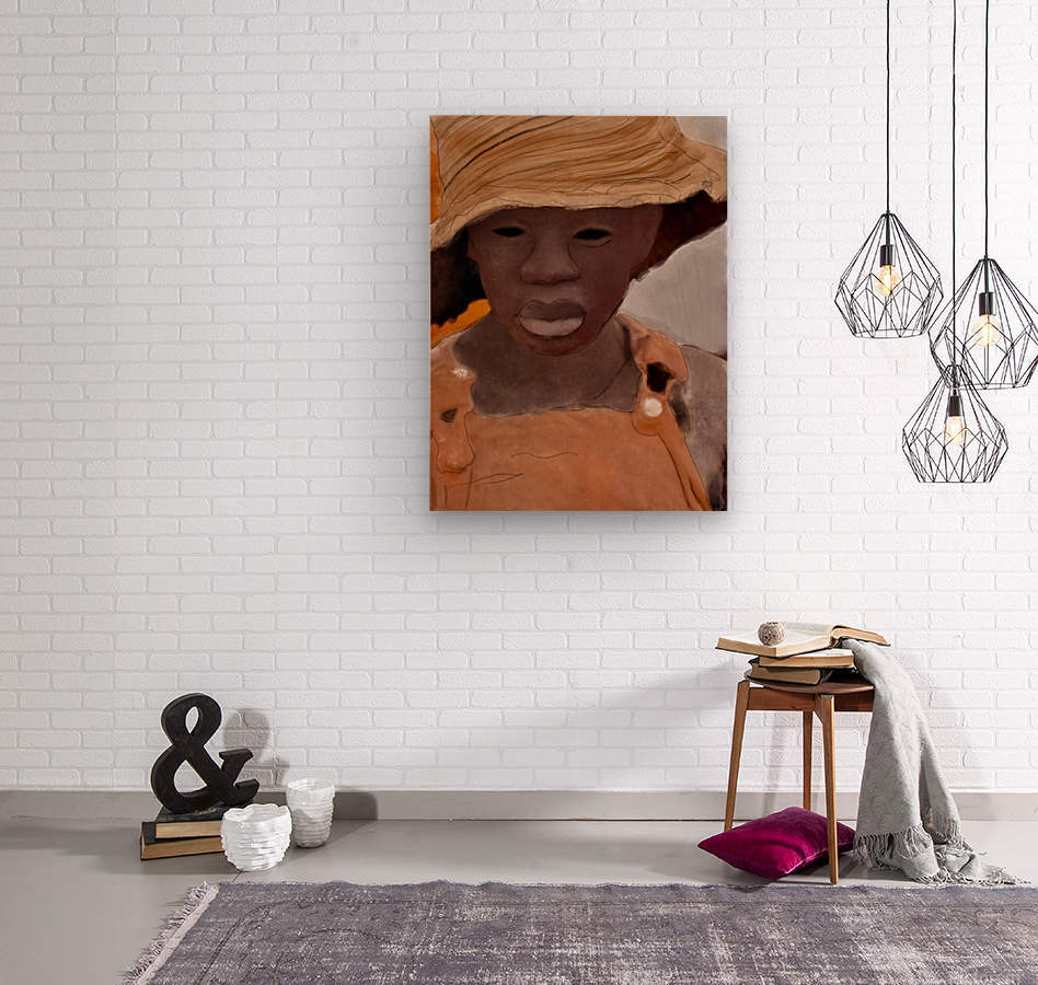 Whitney Plantation Slave Girl 1  Wood print